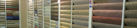 Wide range of carpet samples in store