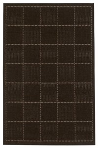 Black Check Flat Weave Rug