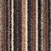 Mocha Coloured Striped Carpet