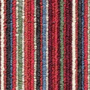 Poppy - Red Coloured Striped Carpet
