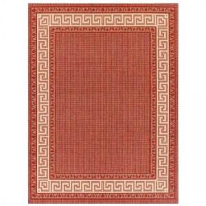 Red Greek Flatweave Rug