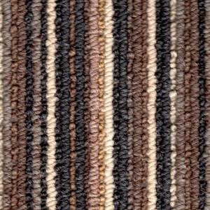 Mocha Coloured Striped Carpet